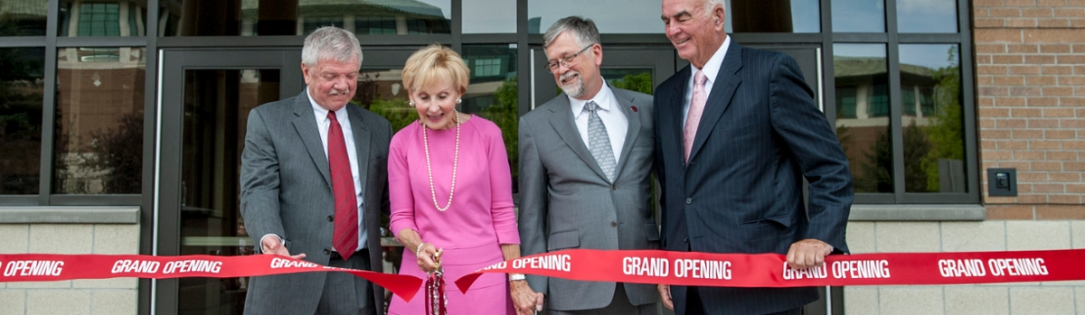 The University of Montana celebrates the opening of the Harold and Priscilla Gilkey Building.