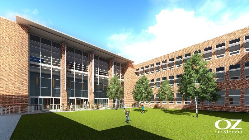 a rendering of the education remodel