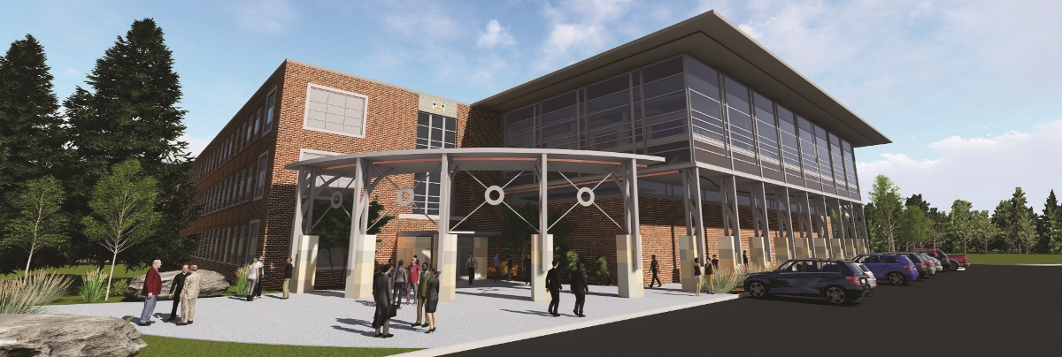 a rendering of the education center expansion