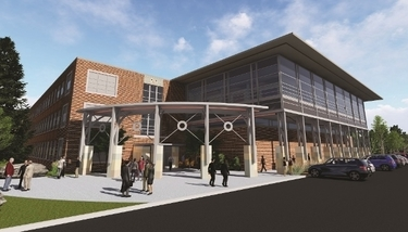 rendering of the education expansion