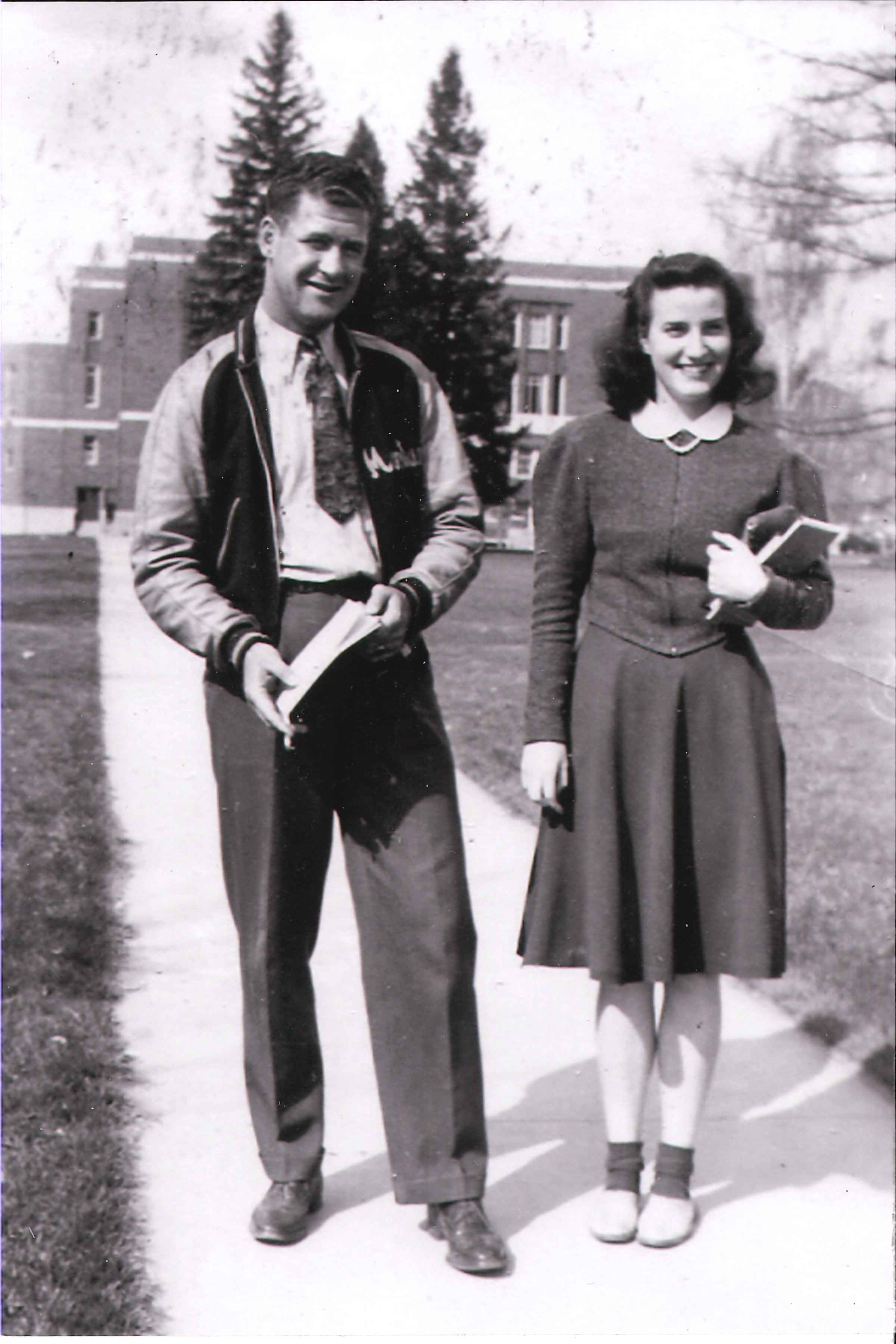Tom O'Donnell and Barbara Adams met on UM's campus in the spring of 1940