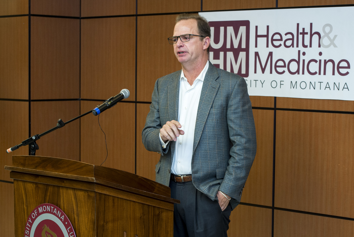 On March 22, Mark and Cheryl Burnham came to campus to celebrate their recent gift to UMHM.